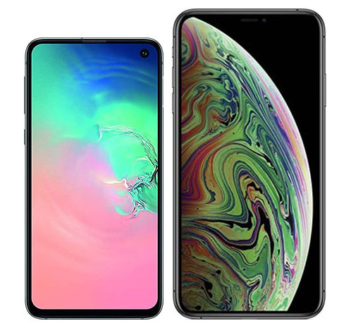 Smartphone Comparison: Samsung galaxy s10e vs Iphone xs max
