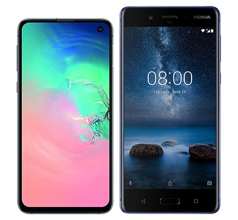 Smartphone Comparison: Samsung galaxy s10e vs Nokia 8