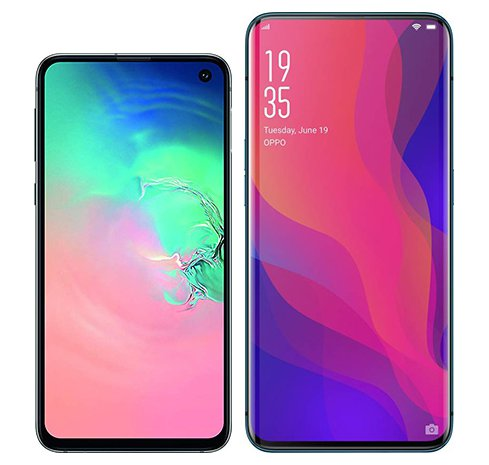 Smartphone Comparison: Samsung galaxy s10e vs Oppo find x