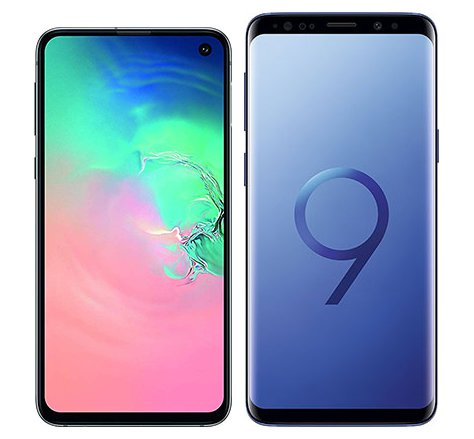 Smartphone Comparison: Samsung galaxy s10e vs Samsung galaxy s9