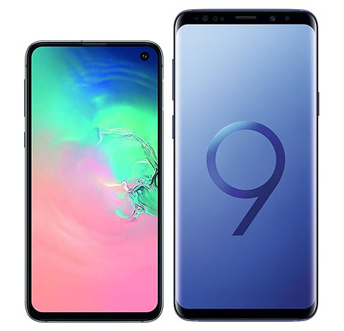Smartphone Comparison: Samsung galaxy s10e vs Samsung galaxy s9 plus