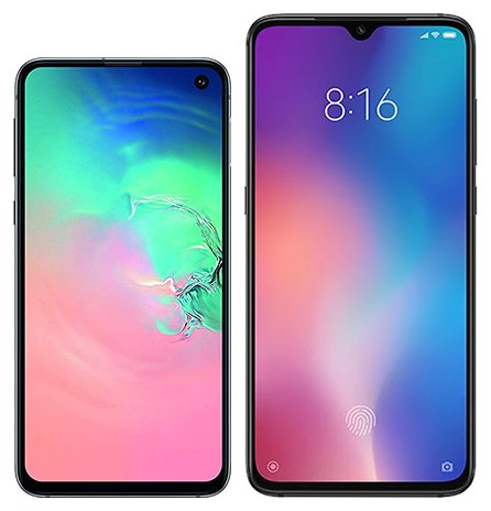 Smartphone Comparison: Samsung galaxy s10e vs Xiaomi mi 9