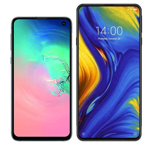 Smartphone Comparison: Samsung galaxy s10e vs Xiaomi mi mix 3