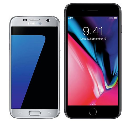 Smartphonevergleich: Samsung galaxy s7 oder Iphone 8 plus