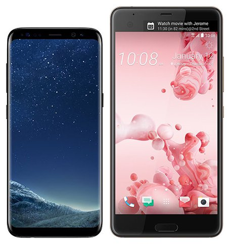 Smartphone Comparison: Samsung galaxy s8 vs Htc u ultra
