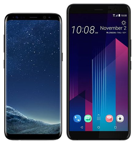 Smartphone Comparison: Samsung galaxy s8 vs Htc u11 plus