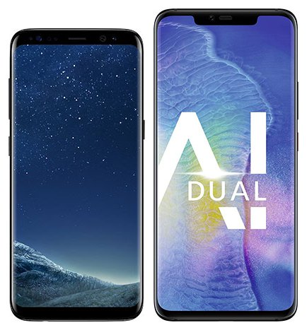 Smartphone Comparison: Samsung galaxy s8 vs Huawei mate 20 pro