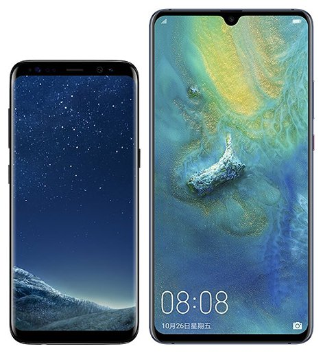 Smartphone Comparison: Samsung galaxy s8 vs Huawei mate 20 x