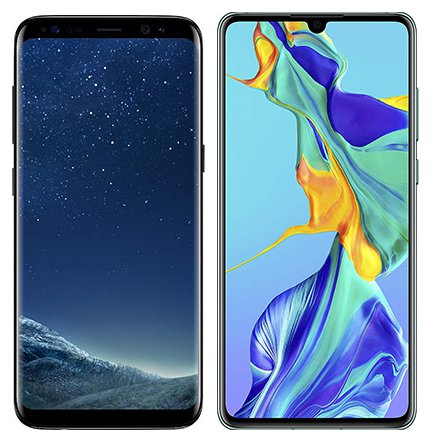 Smartphone Comparison: Samsung galaxy s8 vs Huawei p30