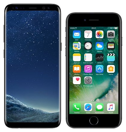 Smartphone Comparison: Samsung galaxy s8 vs Iphone 7
