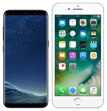 Smartphone Comparison: Samsung galaxy s8 vs Iphone 7 plus