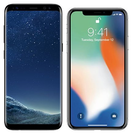 Smartphone Comparison: Samsung galaxy s8 vs Iphone x