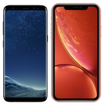 Smartphone Comparison: Samsung galaxy s8 vs Iphone xr