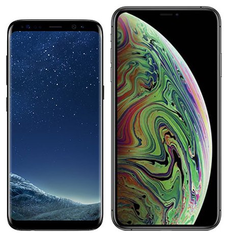 Smartphone Comparison: Samsung galaxy s8 vs Iphone xs max