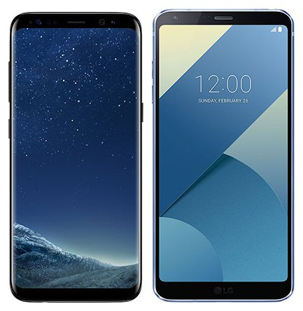 Smartphone Comparison: Samsung galaxy s8 vs Lg g6