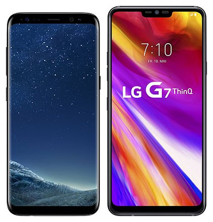 Smartphone Comparison: Samsung galaxy s8 vs Lg g7 thinq