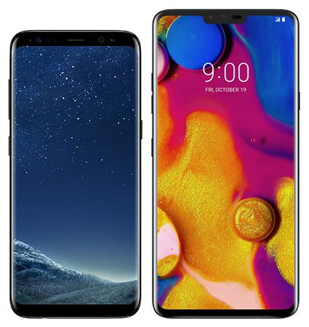 Smartphone Comparison: Samsung galaxy s8 vs Lg v40 thinq