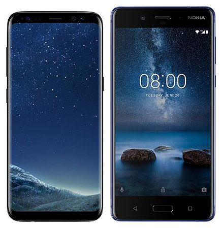 Smartphone Comparison: Samsung galaxy s8 vs Nokia 8