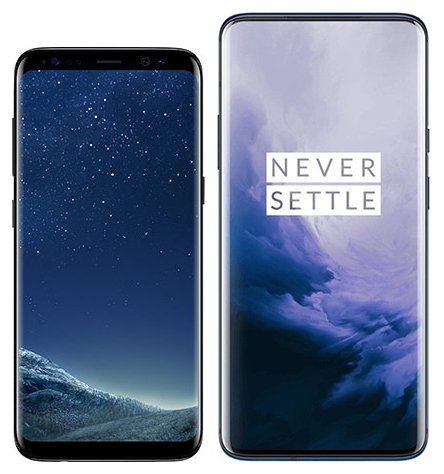 Smartphone Comparison: Samsung galaxy s8 vs One plus 7 pro