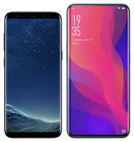 Smartphone Comparison: Samsung galaxy s8 vs Oppo find x