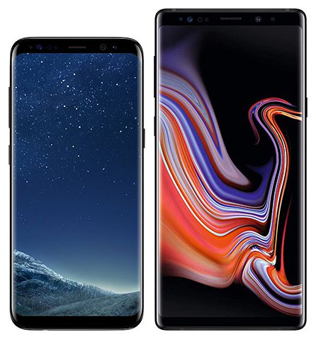 Smartphone Comparison: Samsung galaxy s8 vs Samsung galaxy note 9