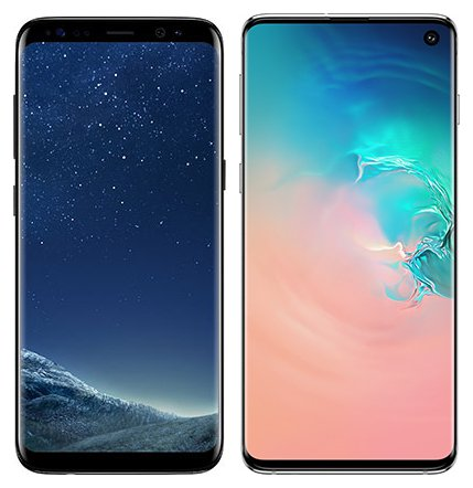 Smartphone Comparison: Samsung galaxy s8 vs Samsung galaxy s10