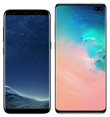 Smartphone Comparison: Samsung galaxy s8 vs Samsung galaxy s10 plus