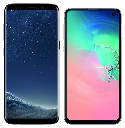 Smartphone Comparison: Samsung galaxy s8 vs Samsung galaxy s10e