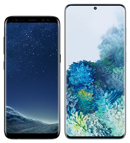 Smartphone Comparison: Samsung galaxy s8 vs Samsung galaxy s20 plus