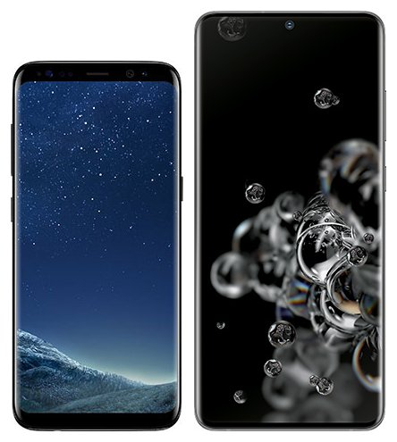 Smartphone Comparison: Samsung galaxy s8 vs Samsung galaxy s20 ultra