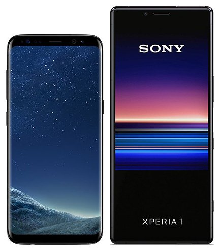 Smartphone Comparison: Samsung galaxy s8 vs Sony xperia 1