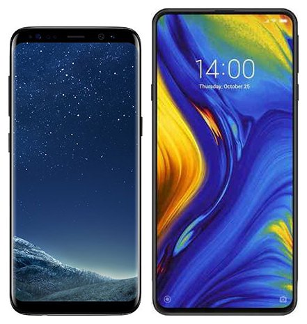 Smartphone Comparison: Samsung galaxy s8 vs Xiaomi mi mix 3