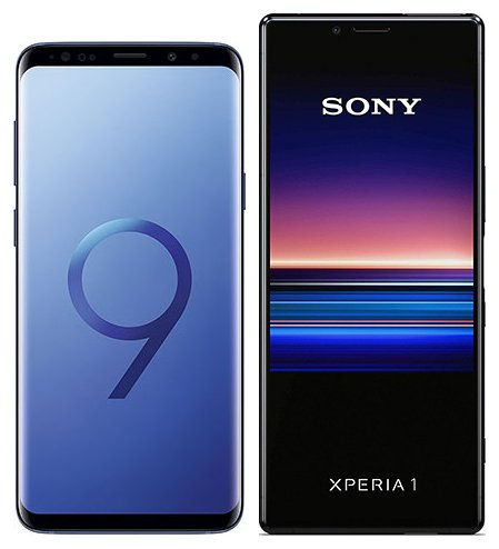 Smartphonevergleich: Samsung galaxy s9 plus oder Sony xperia 1