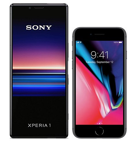 Smartphonevergleich: Sony xperia 1 oder Iphone 8