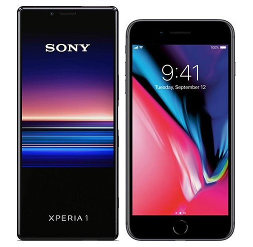 Smartphonevergleich: Sony xperia 1 oder Iphone 8 plus