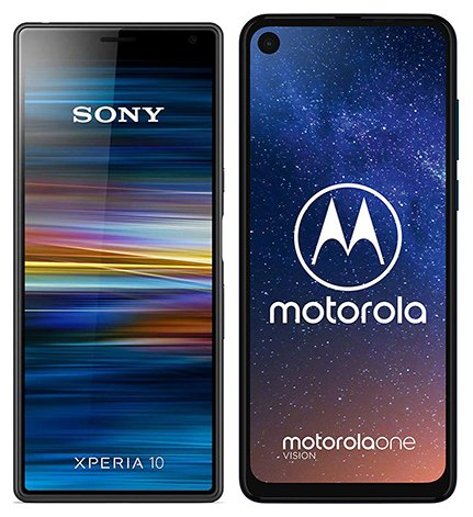 Smartphonevergleich: Sony xperia 10 oder Motorola one vision