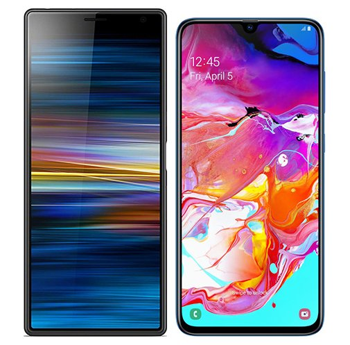 Smartphonevergleich: Sony xperia 10 plus oder Samsung galaxy a70