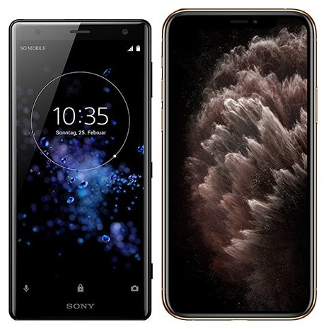 Smartphonevergleich: Sony xperia xz2 oder Iphone 11 pro max