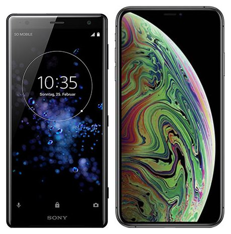 Smartphonevergleich: Sony xperia xz2 oder Iphone xs max