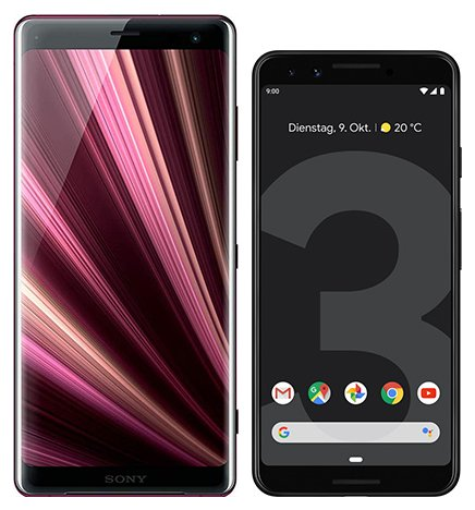 Smartphone Comparison: Sony xperia xz3 vs Google pixel 3