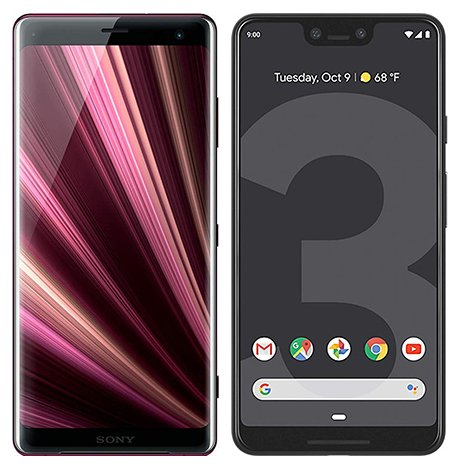 Smartphone Comparison: Sony xperia xz3 vs Google pixel 3 xl