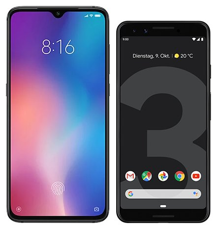 Smartphone Comparison: Xiaomi mi 9 vs Google pixel 3