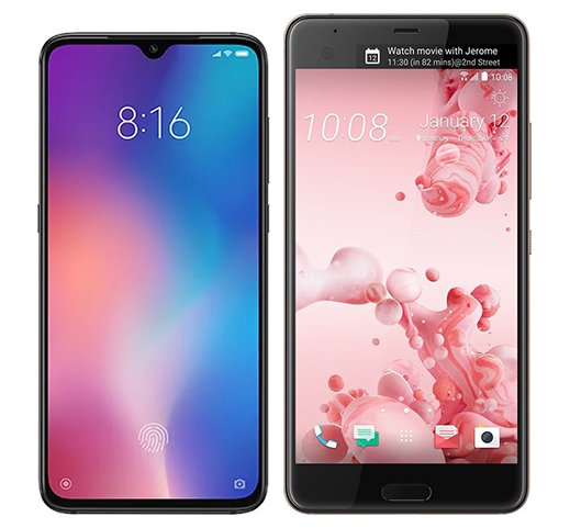 Smartphone Comparison: Xiaomi mi 9 vs Htc u ultra