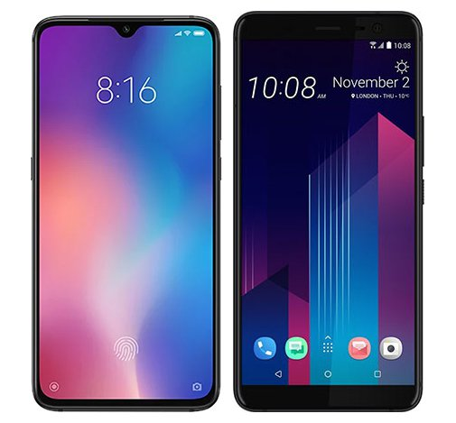 Smartphone Comparison: Xiaomi mi 9 vs Htc u11 plus