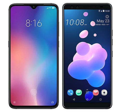 Smartphone Comparison: Xiaomi mi 9 vs Htc u12 plus