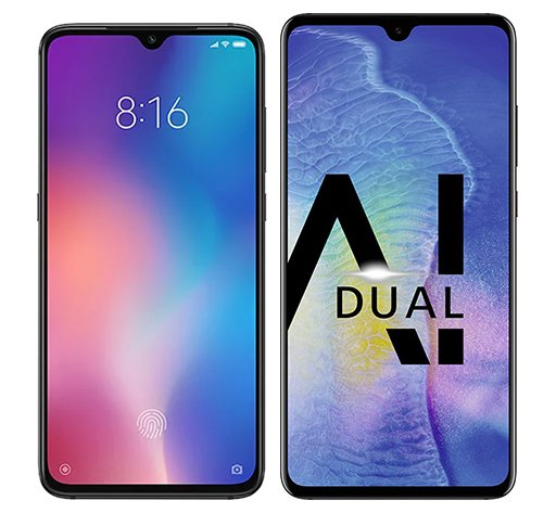 Smartphone Comparison: Xiaomi mi 9 vs Huawei mate 20