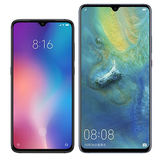 Smartphone Comparison: Xiaomi mi 9 vs Huawei mate 20 x