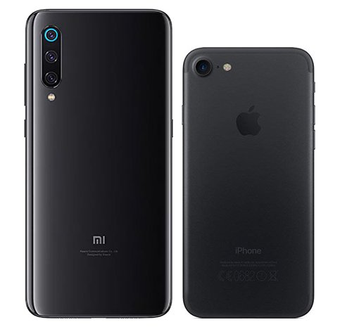 Mi 9 vs iPhone 7. View of main cameras