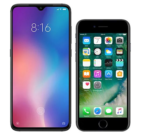 Smartphone Comparison: Xiaomi mi 9 vs Iphone 7
