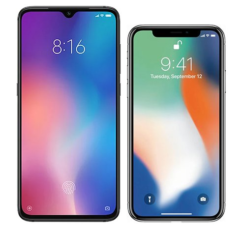 Smartphone Comparison: Xiaomi mi 9 vs Iphone x